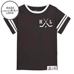 The BRAND Unisex Tops Black Make A Save Short Sleeve Tee Black NY