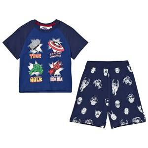 Fabric Flavours Boys Nightwear Navy Navy Marvel Heroes Icons Pyjamas