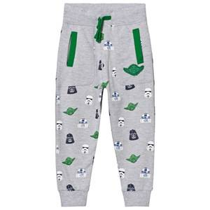 Fabric Flavours Boys Bottoms Grey Grey Star Wars Multi Character Sweatpants