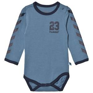 hummelkids Boys All in ones Blue Josef Baby Body Copen Blue