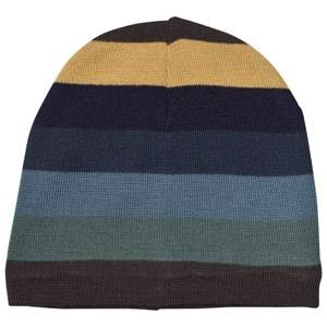 Molo Unisex Headwear Blue Colder Hats Ocean Stripe