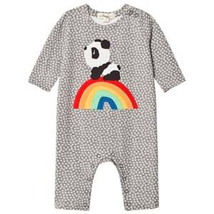 The Bonnie Mob Unisex All in ones Grey Rainbow Panda One-Piece Hash Tag Grey