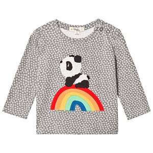 The Bonnie Mob Unisex Tops Grey Rainbow Panda Applique Tee Hash Tag Grey