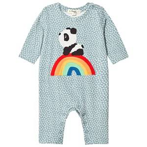 The Bonnie Mob Boys All in ones Blue Rainbow Panda One-Piece Hash Tag Blue