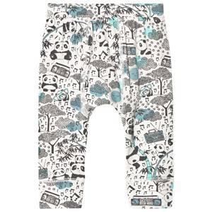 The Bonnie Mob Boys Bottoms Blue Panda Print Baby Leggings Blue