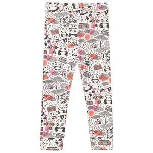 The Bonnie Mob Girls Bottoms Pink Panda Print Leggings Pink