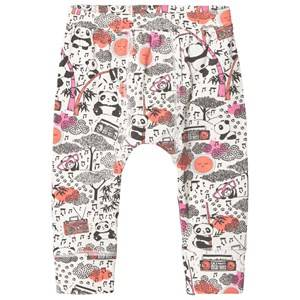 The Bonnie Mob Girls Bottoms Pink Panda Print Baby Leggings Pink