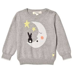 The Bonnie Mob Unisex Jumpers and knitwear Grey Moon And Bunny Intarsia Sweater Grey