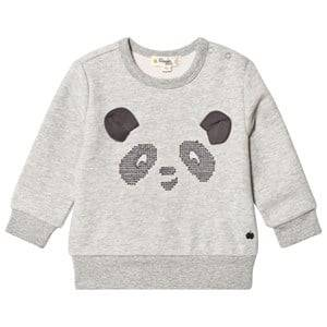 The Bonnie Mob Unisex Jumpers and knitwear Grey Cross Stitch Panda Sweatshirt Grey