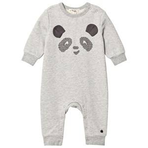 The Bonnie Mob Unisex All in ones Grey Cross Stitch Panda One-Piece Grey