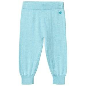 The Bonnie Mob Boys Bottoms Blue Knitted Jogging Pants Pale Blue