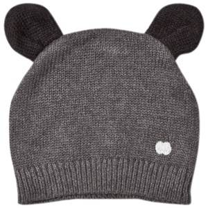 The Bonnie Mob Unisex Headwear Grey Knitted Hat with Ears Dark Grey