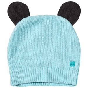 The Bonnie Mob Boys Headwear Blue Knitted Hat with Ears Pale Blue