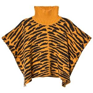 The Bonnie Mob Unisex Coats and jackets Orange Tiger Stripe Jacquard Cape Honey
