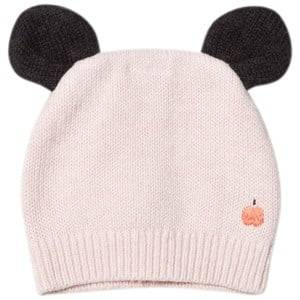 The Bonnie Mob Girls Headwear Pink Knitted Hat with Ears Pale Pink