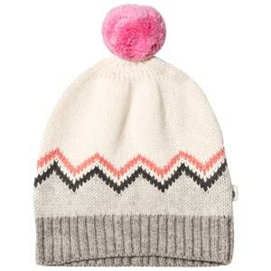The Bonnie Mob Girls Headwear Pink Chunky Knitted Pom Pom Hat Pink