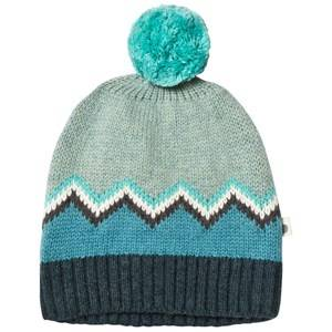 The Bonnie Mob Boys Headwear Blue Chunky Knitted Pom Pom Hat Blue