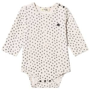 The Bonnie Mob Unisex All in ones Cream Bunny Print Baby Body Sand