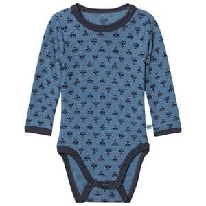Hummel Unisex All in ones Molde Wool Baby Body Copen Blue