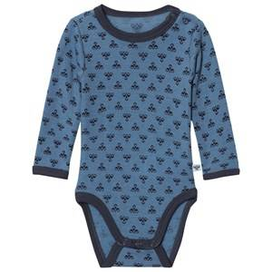 Hummel Unisex All in ones Blue Molde Wool Baby Body Copen Blue