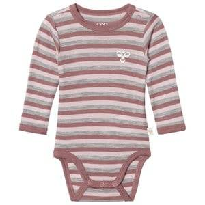 hummelkids Girls All in ones Brown Seide Wool Baby Body Multi Colour