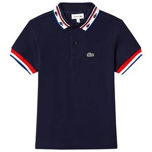 Lacoste Boys Tops Navy Navy Retro Tipped Branded Polo