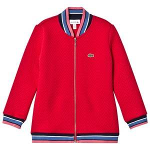 Lacoste Girls Coats and jackets Red Red Quilted Bomber Jacket