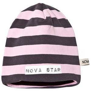 Nova Star Unisex Headwear Pink Beanie Fleece Lining Striped Light Pink