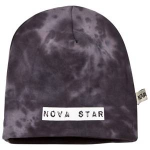 Nova Star Unisex Headwear Black Beanie Fleece Lined Grey/Black