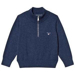 Gant Boys Jumpers and knitwear Grey Grey Melange Half Zip Knit Jumper
