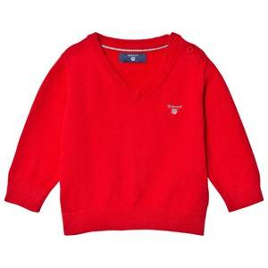 Gant Boys Jumpers and knitwear Red Red Cotton V Neck Jumper