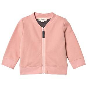 The Bonnie Mob Girls Jumpers and knitwear Pink Cross Stitch Tiger Bomber Jacket Powder