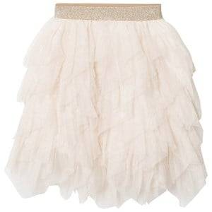 Mayoral Girls Skirts Beige Beige Petal Glitter Tulle Skirt