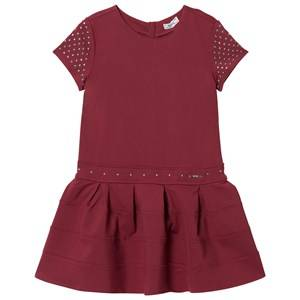 Mayoral Girls Dresses Red Red Studded Milano Dress