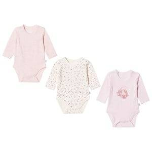 Hust&Claire; Girls All in ones Pink 3-Pack Baby Bodies Soft Rose