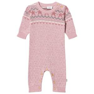 Hust&Claire; Girls All in ones Pink Ribbed One-Piece Rose Cloud Melange