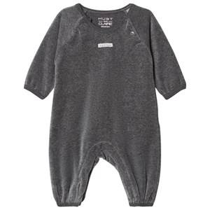 Hust&Claire; Unisex All in ones Grey Velour One-Piece Grey Blend