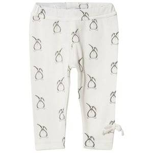Kiss How To Kiss A Frog Girls Baselayers Cream Slim Leggings All Over Hare Off White