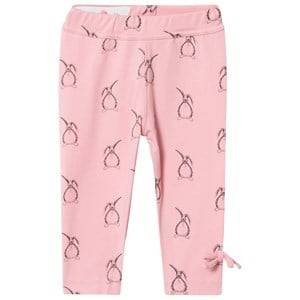 Kiss How To Kiss A Frog Girls Baselayers Pink Slim Leggings All Over Hare Dusty Pink