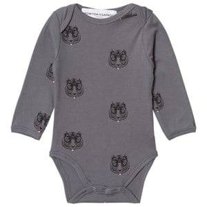 Kiss How To Kiss A Frog Unisex All in ones Grey Body Print Allover Tiger Dark Grey
