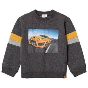 Hust&Claire; Boys Jumpers and knitwear Grey Car Sweatshirt Antracite Melange