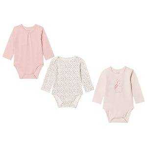 Hust&Claire; Girls All in ones Pink 3-Pack Baby Bodies Dusty Rose