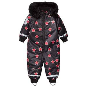 The BRAND Unisex Private Label Coveralls Red Coverall Red Allstar With Black Fur
