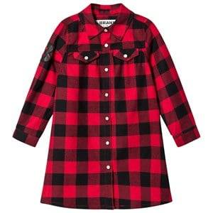 The BRAND Girls Private Label Dresses Red Dress Red Checked Flannel
