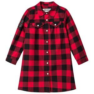The BRAND Girls Private Label Dresses Red Dress Red Checked Flanell