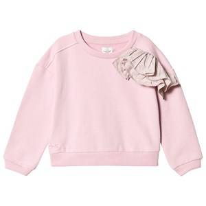 No Added Sugar Girls Jumpers and knitwear Pink Pink Marl Sweater Ruffle