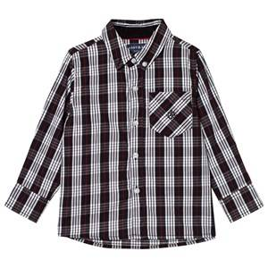 Andy & Evan Boys Tops Navy Black/White Holiday Shirt