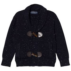 Andy & Evan Boys Jumpers and knitwear Navy Navy/White Slub Toggle Cardigan