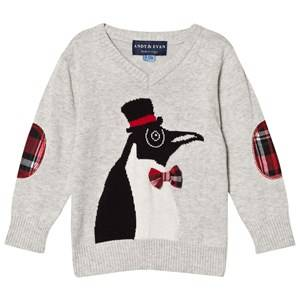 Andy & Evan Boys Jumpers and knitwear White Christmas Penguin Sweater