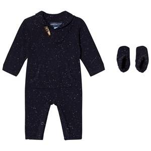Andy & Evan Boys All in ones Navy Navy Slub Toggle Onesie/Booties
